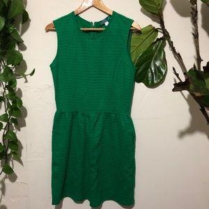 Anthropologie Pim + Larkin Green Textured Dress S